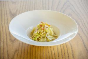 イカとキャベツのクリームパスタ ~アンチョビ風味~ サラダ&ドリンク付き