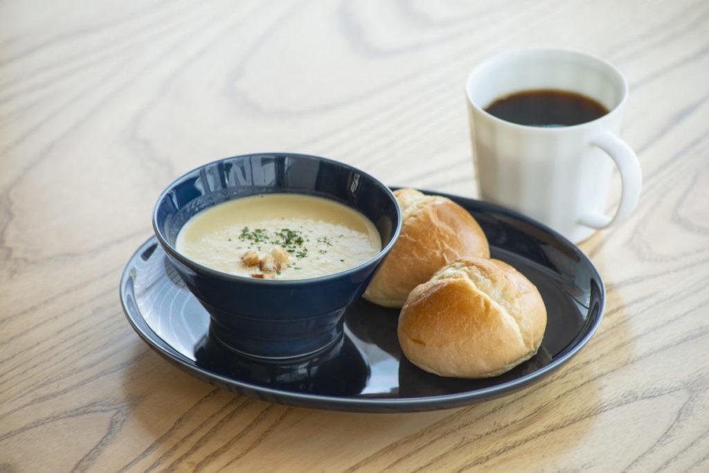 コテカフェ食べるスープのモーニングセット